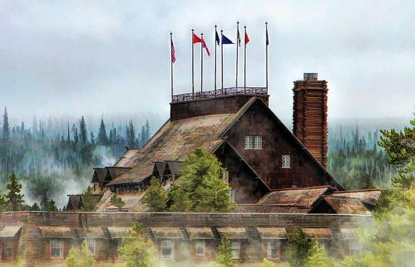 Painting - Yellowstone National Park Old Faithful Inn by Christopher Arndt