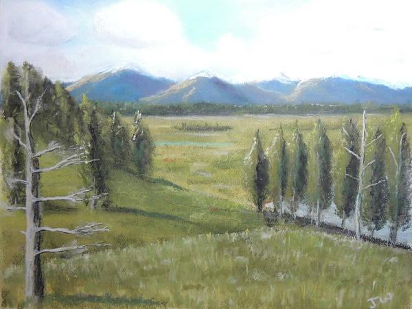 Pastel - Yellowstone Overlook by Jayne Wilson