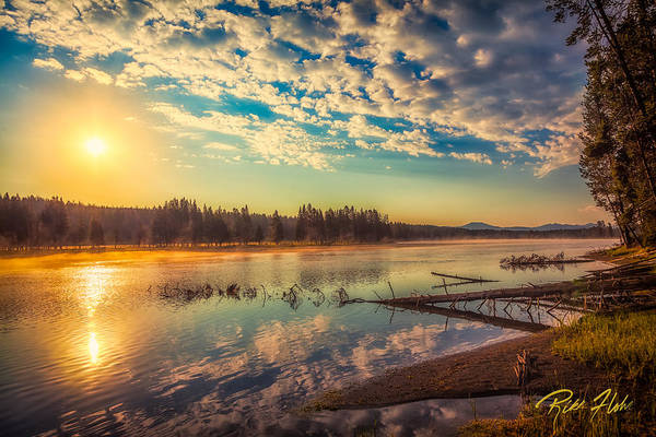 Photograph - Yellowstone River At Sunrise by Rikk Flohr