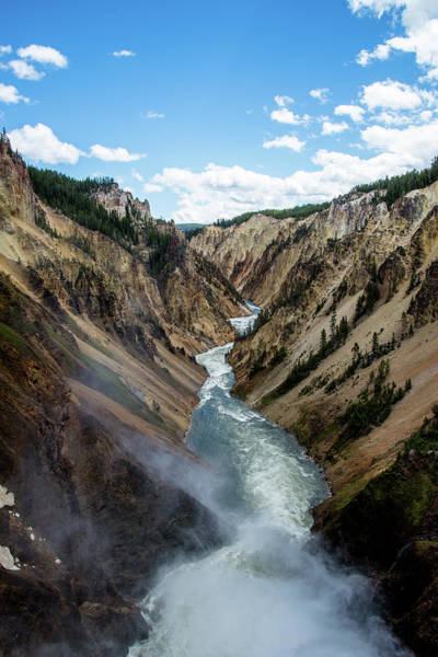 Photograph - Yellowstone River Below Lower Falls 3p by Frank Madia