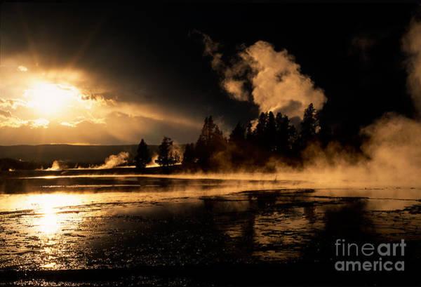 Bronstein Photograph - Yellowstone River Sunrise by Sandra Bronstein
