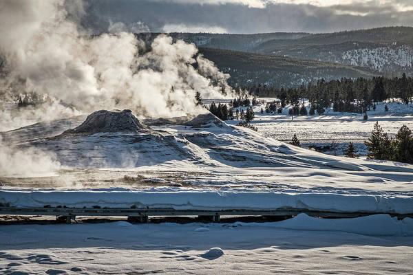 Photograph - Yellowstone Smoking Pots  by Stuart Litoff