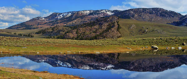 Photograph - Yellowstone Spring Reflections by Greg Norrell