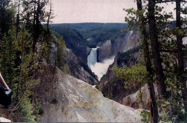 Photograph - Yellowstone Water Fall by Jerry Battle