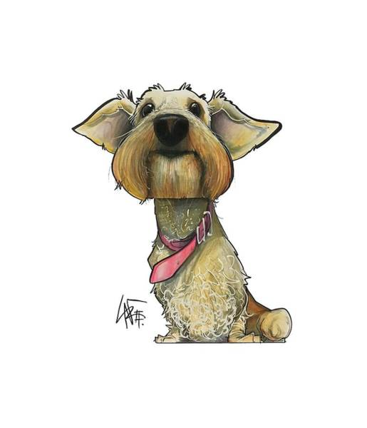 Pet Portrait Drawing - Yenny 3537 by John LaFree