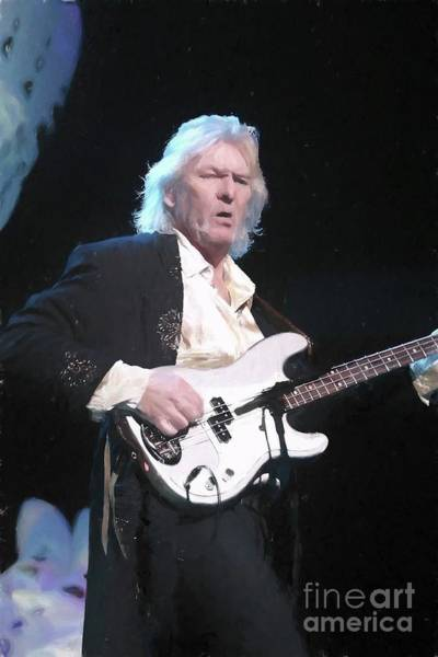 Progressive Rock Painting - Yes Chris Squire Painting by Concert Photos