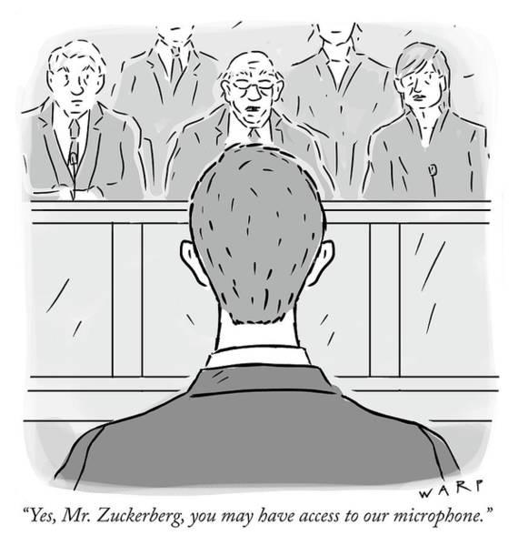 Facebook Drawing - Yes Mr Zuckerberg by Kim Warp