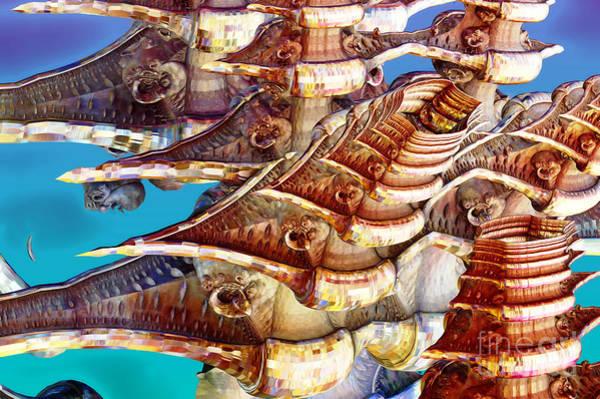 Roger Dean Wall Art - Digital Art - Yesfractal by Joerg Wand