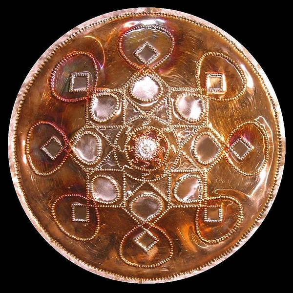 Sculpture - Yesirah Copper Lightmandala by Robert Thalmeier