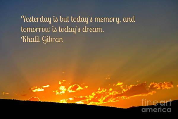 Khalil Gibran Painting - Yesterday Tomorrow And Now by John Malone