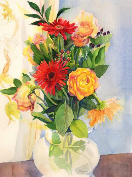 Painting - Yesterdays Beauties by Nancy Watson