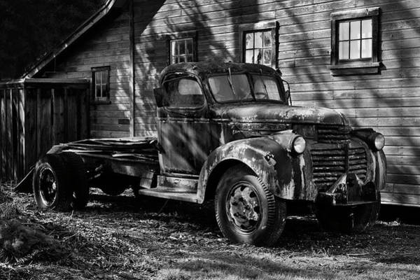 Photograph - Yesterday's Workhorse In Black And White by David Lunde