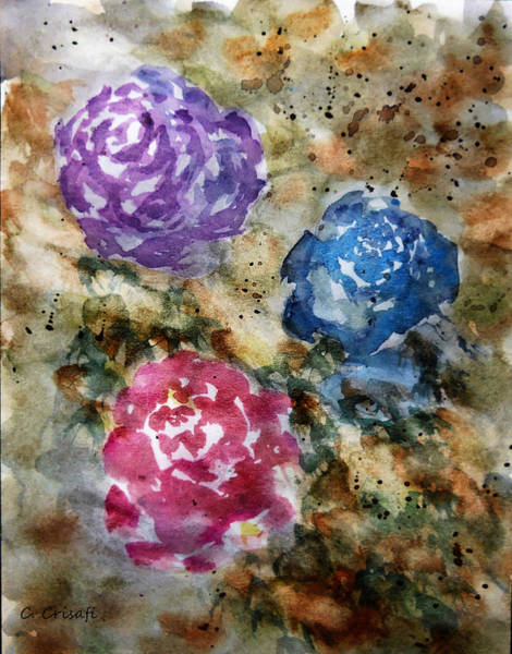 Painting - Yesteryear Roses by Carol Crisafi