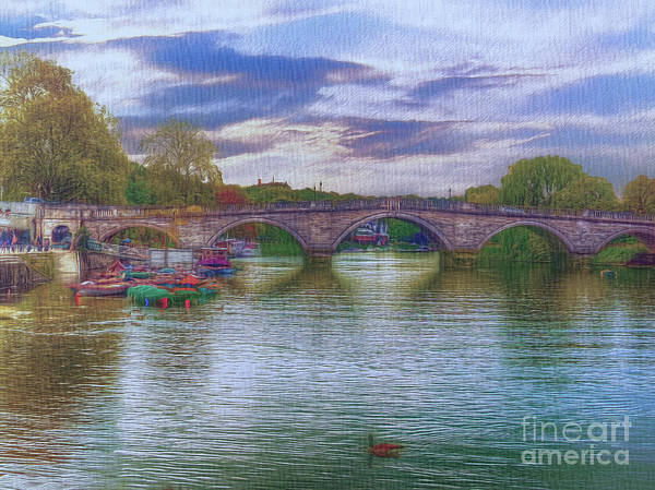 Digital Art - Yet Another River Work by Leigh Kemp