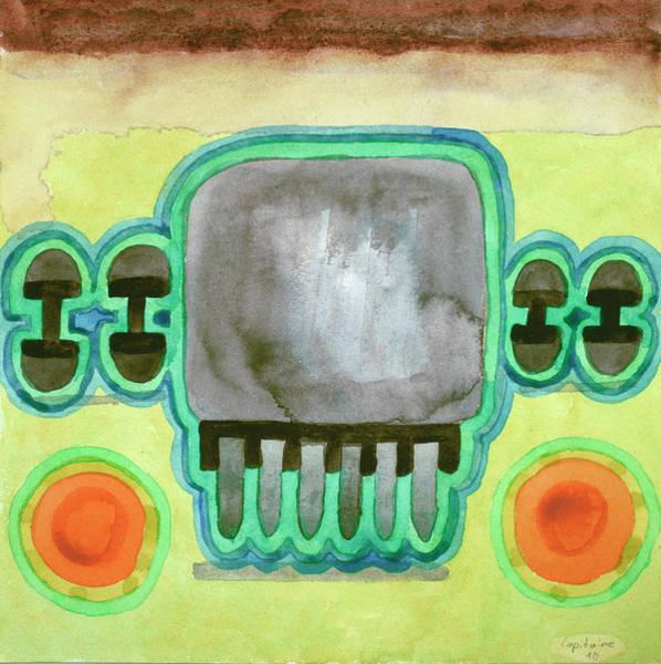 Similar Painting - Fridge Design  by Heidi Capitaine