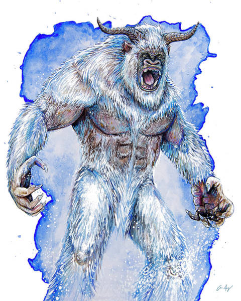 Drawing - Yeti by Aaron Spong
