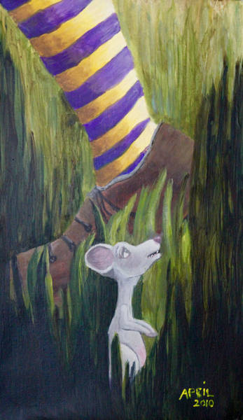 Painting - Yikes Mouse by April Burton