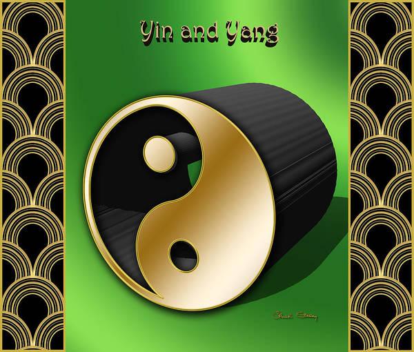 Digital Art - Yin And Yang - 3 D by Chuck Staley
