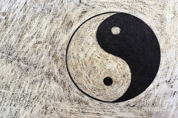 Wall Art - Photograph - Yin And Yang Symbol On Drum by Sami Sarkis