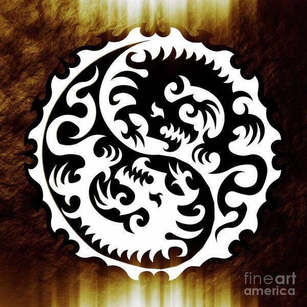 Satan Digital Art - Yin Yang By Sarah Kirk by Sarah Kirk