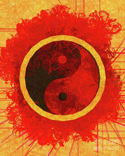 Esoteric Painting - Yin Yang Harmony by Pierre Blanchard