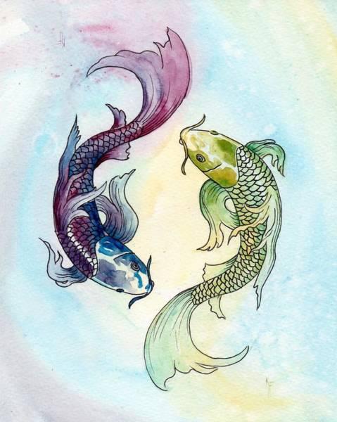 Yin Yang Fish Paintings Fine Art America