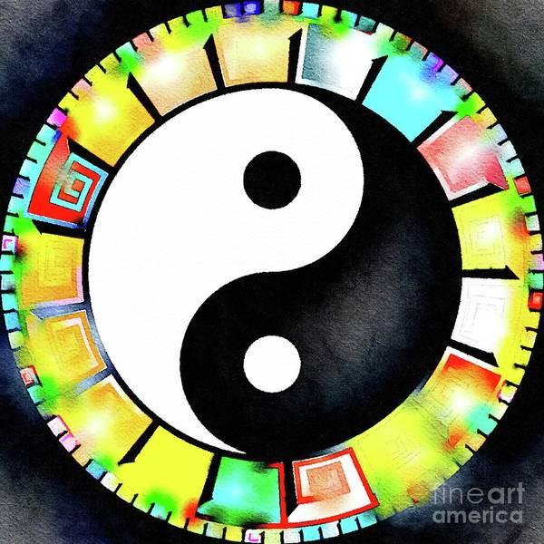 Esoteric Painting - Yin Yang Rainbow by Pierre Blanchard
