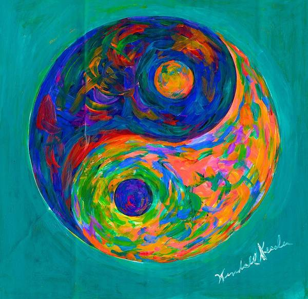 Painting - Yin Yang Spin by Kendall Kessler
