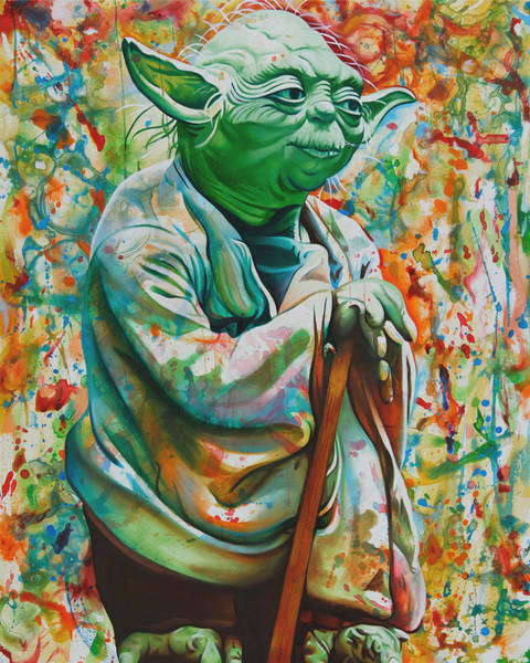 Wall Art - Painting - Yoda-a Jedis Strength Flows From The Force by Joshua Morton