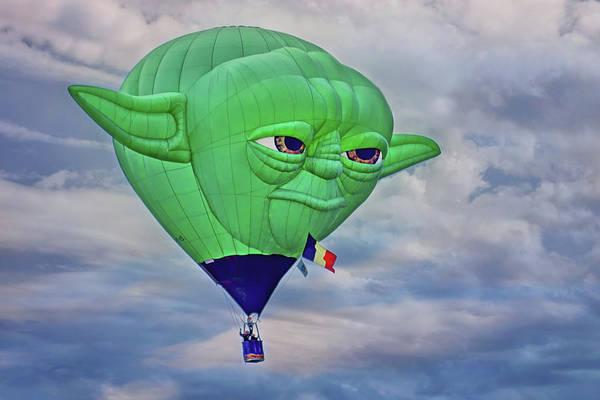 Star Wars Wall Art - Photograph - Yoda - Hot Air Balloon by Nikolyn McDonald