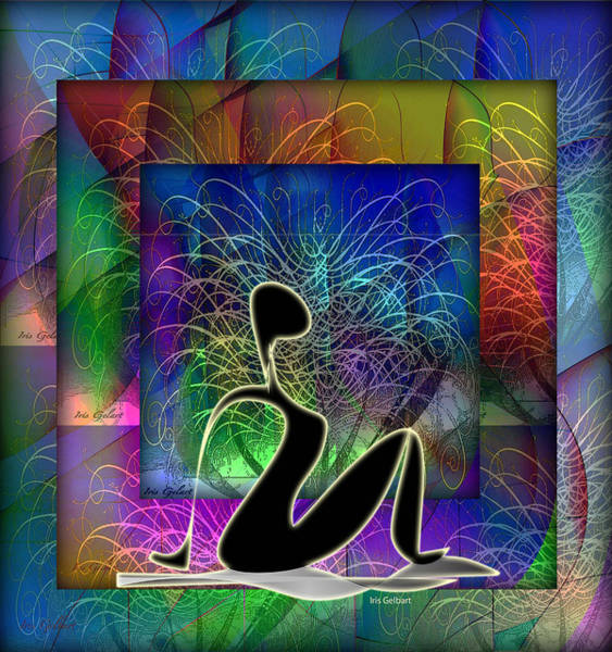 Wall Art - Digital Art - Yoga 6 by Iris Gelbart