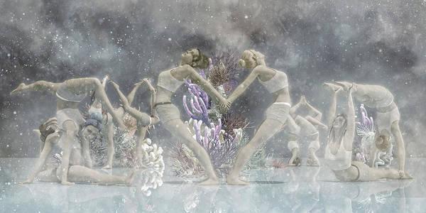 Coral Digital Art - Yoga Corals by Betsy Knapp