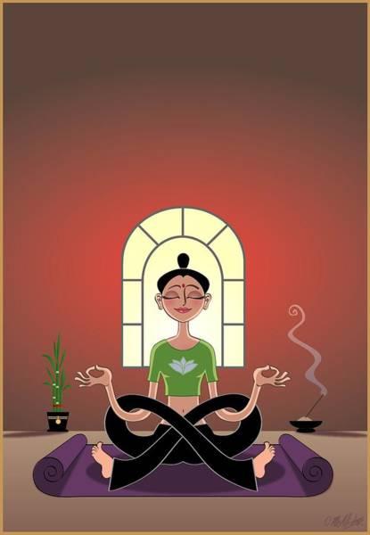 Meditation Digital Art - Yoga Pretzel by Cristina McAllister