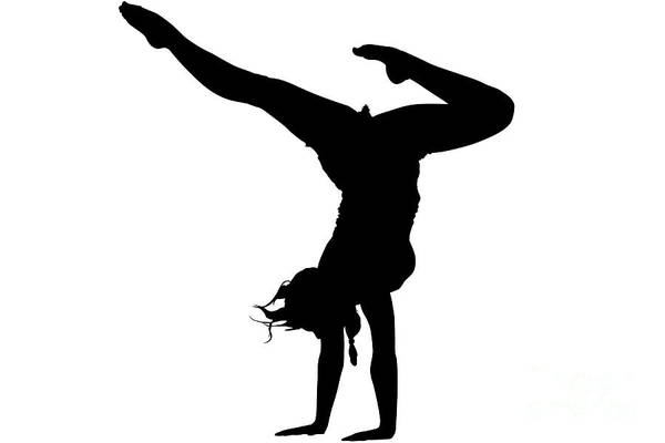 Digital Art - Yoga Silhouette by Benny Marty