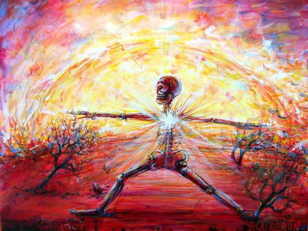 Wall Art - Painting - Yoga Warrior by Heather Calderon