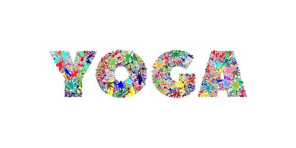 Yoga Word Art Art Print