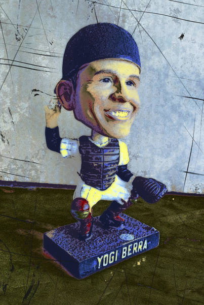 Baseball Hall Of Fame Mixed Media - Yogi Berra, Hall Of Famer by Russell Pierce