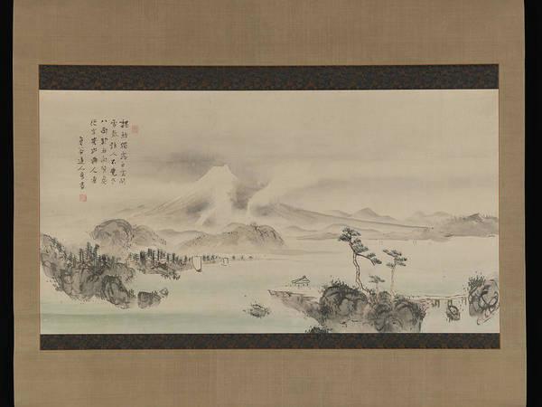 Mounted Digital Art - Yokoi Kinkoku    Mount Fuji by Mery Moon