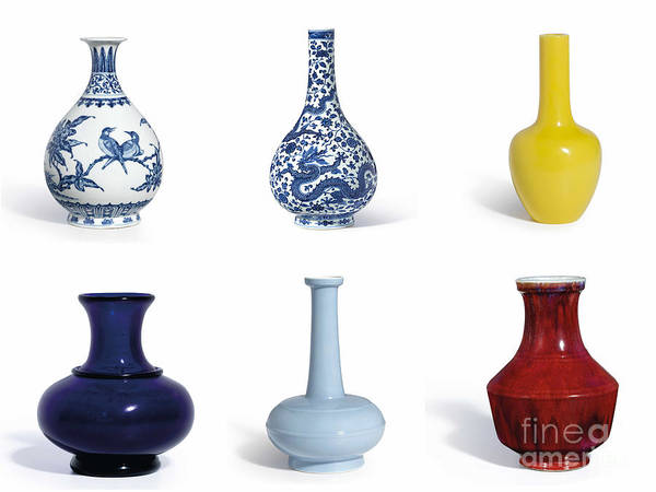 Painting - Yongzheng Period Vases by Celestial Images