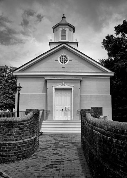 Greek Revival Architecture Photograph - York-hampton Parish Church - Bw by Stephen Stookey