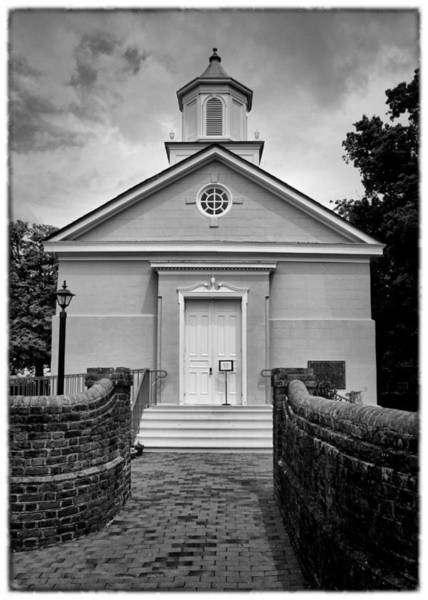 Greek Revival Architecture Photograph - York-hampton Parish Church - Bw W Border by Stephen Stookey