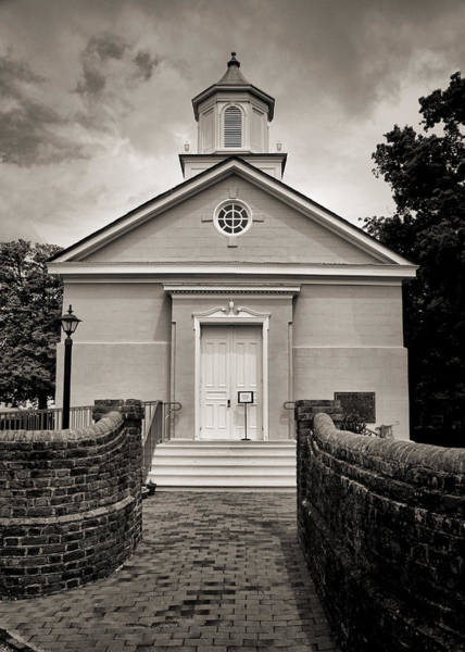 Greek Revival Architecture Photograph - York-hampton Parish Church - Toned Bw by Stephen Stookey