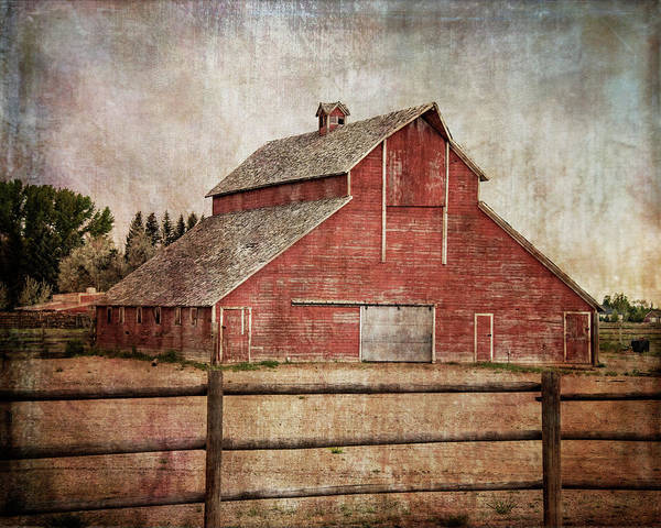 Digital Art - York Road Barn by Ramona Murdock