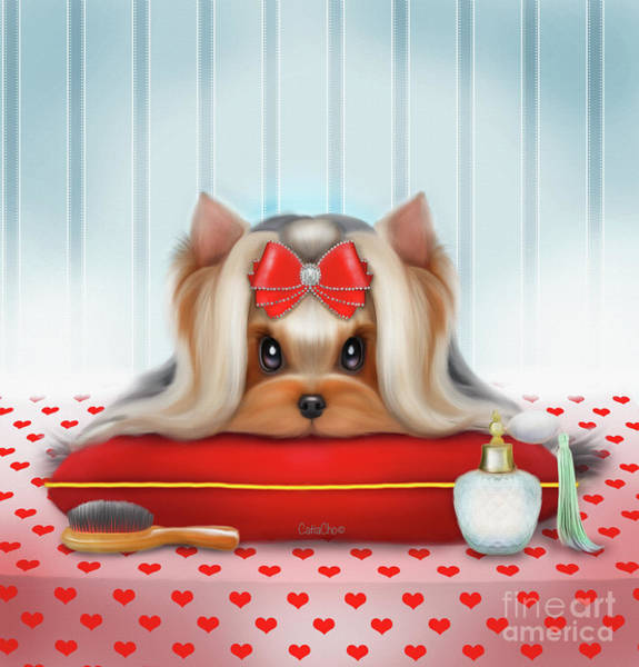 Yorkie Beauty Art Print