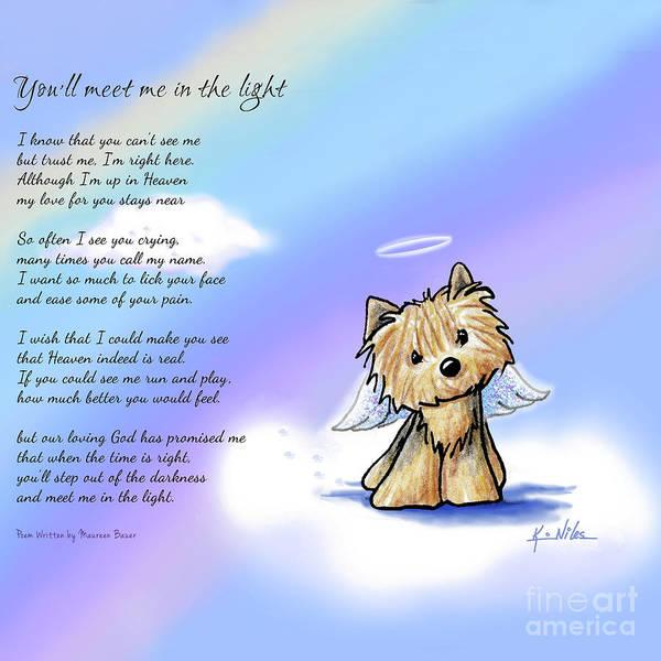 Dog Mixed Media - Yorkie Memorial by Kim Niles