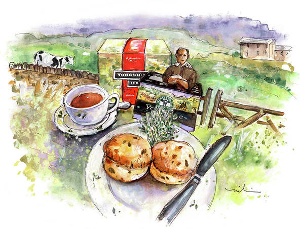 Painting - Yorkshire Cheese Scones by Miki De Goodaboom