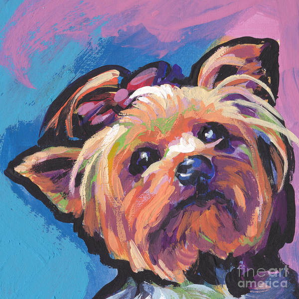 Yorkie Wall Art - Painting - Yorkshire Puddin by Lea S