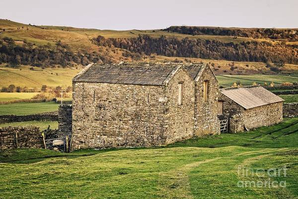 Photograph - Yorkshire Stone Barns by Martyn Arnold