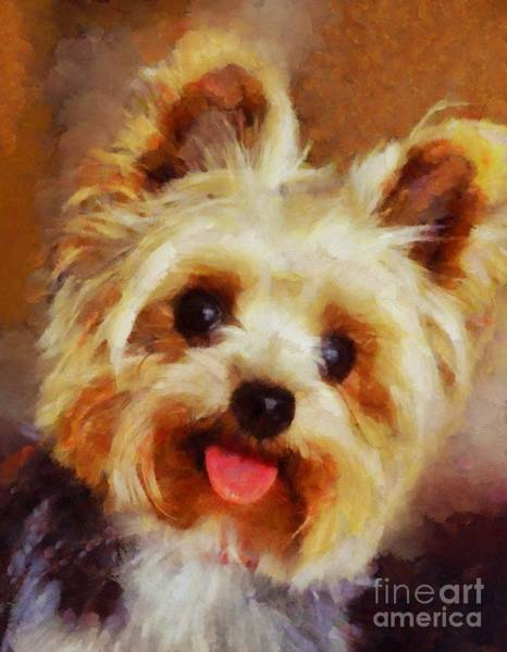 Yorkie Wall Art - Painting - Yorkshire Terrier by Esoterica Art Agency