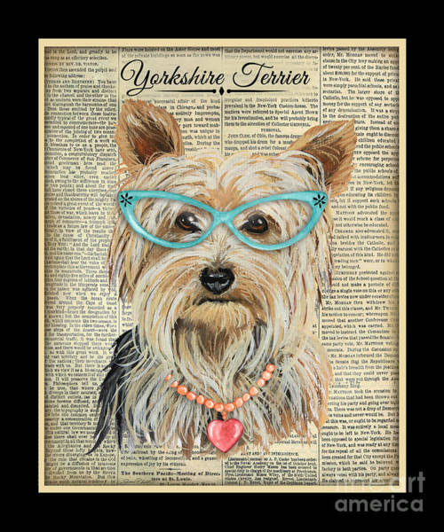 Yorkshire Terrier Painting - Yorkshire Terrier-jp3856 by Jean Plout